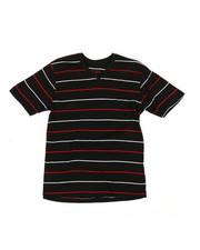 Boys - 2 Tone Stripe V-Neck Tee (8-20)-2362883