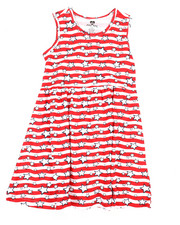 Girls - Americana Stripe Knit Dress (7-16)-2363971