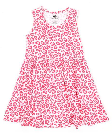 La Galleria - Leopard Heart Print Knit Dress (4-6X)