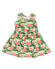 Girls - Floral Print Knit Dress (Infant)-2363943