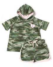 Girls - Suzette French Terry Hoodie Short Set (2T-4T)-2364171