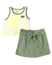 Girls - Madison Striped Tank & Scooter Set (7-16)-2364225