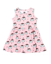 Girls - Cat Print Knit Dress (Infant)-2363947