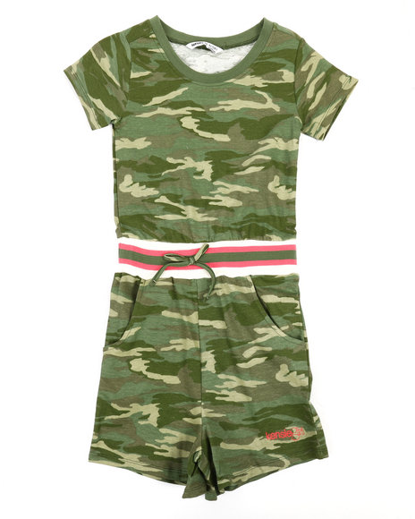 Kensie Girl - Alexia French Terry Printed Romper (7-16)