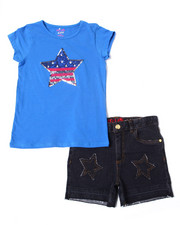 Girls - Americana Set (Tee/Short) (4-6X)-2364291