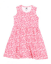 Girls - Leopard Heart Print Knit Dress (7-16)-2363983