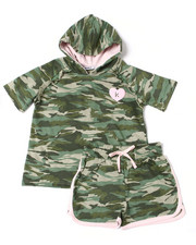 Girls - Suzette French Terry Hoodie Short Set (7-16)-2364158