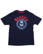Boys - Nautica Logo Printed S/S Tee (4-7)-2364527