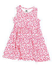 Girls - Leopard Heart Print Knit Dress (2T-4T)-2363975