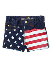 Girls - Americana Denim Short (4-6X)-2364373
