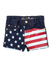 Girls - Americana Denim Short (7-16)-2364366