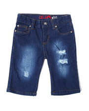 Girls - Americana Denim Short (7-16)-2364335
