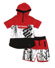 Sizes 8-20 - Big Kids - 2Pc French Terry Hoodie & Short Set (8-20)-2357420
