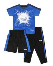 Boys - 3 Pc Graphic Tee, Shorts & Pants Set (2T-4T)-2350800