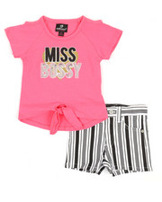 Girls - 2 Pc Tee & Shorts Set (2T-4T)-2360558