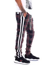 Pants - PLAID STRIPED TRACK PANT-2365143