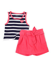 Girls - Madison Striped Tank & Scooter Set (7-16)-2364191