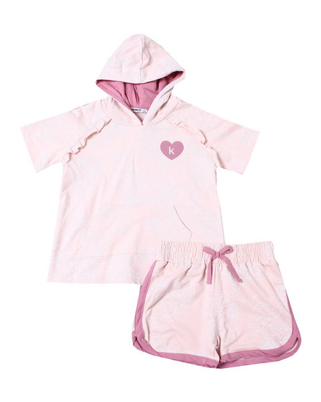 Kensie Girl - Suzette French Terry Hoodie Short Set (7-16)