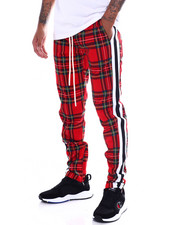 Pants - PLAID STRIPED TRACK PANT-2365161