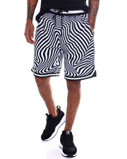 Shorts - Trippy Print Basketball Short-2365229