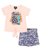 Girls - 2 Pc Tee & Shorts Set (2T-4T)-2361194