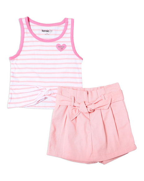 Kensie Girl - Madison Striped Tank & Scooter Set (7-16)