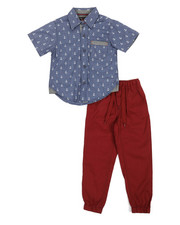 Boys - All Over Print Woven & Twill Jogger Set (8-20)-2357547
