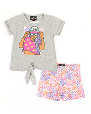 Girls - 2 Pc Tee & Shorts Set (2T-4T)-2361226