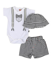 Duck Duck Goose - 3 Piece Knit Set (0-9Mo)-2361186
