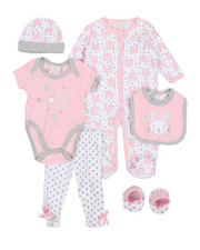 Girls - 7 Piece Bunny Print Gift Set (Infant)-2361178