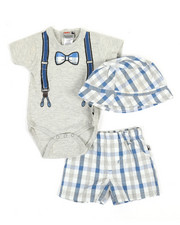 Duck Duck Goose - 3 Piece Knit Set (0-9Mo)-2360360