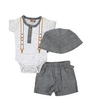 Duck Duck Goose - 3 Piece Knit Set (0-9Mo)-2360417