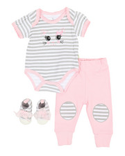 Girls - 3 Piece Knit Set (Infant)-2349113