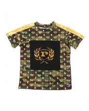Phat Farm - All Over Printed Camo Embossed Metallic Tee (4-7)-2362698