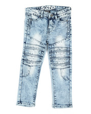 Boys - Stretch Denim Cut & Sew Moto Jeans (4-7)-2363996