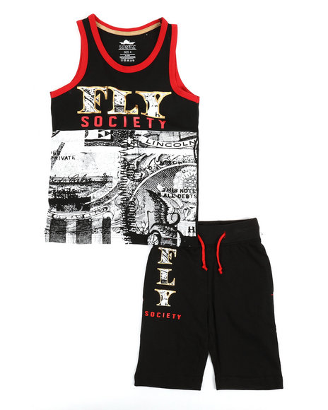 Fly Society - 2 PC Set Tank Top & Shorts Set (8-20)