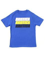 Boys - Nautica Logo Printed S/S Tee (4-7)-2364542