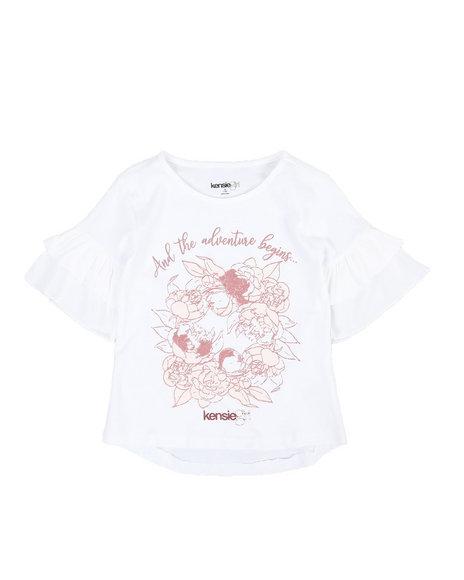 Kensie Girl - Lula Knit Ruffle Sleeve Top (7-16)