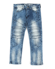 Boys - Stretch Denim Cut & Sew Moto Jeans (4-7)-2363987