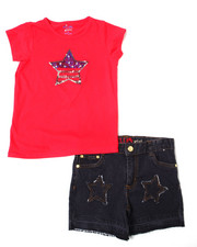 Girls - Americana Set (Tee/Short) (7-16)-2364249