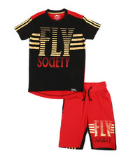 Boys - 2 Pc Tee & Shorts Set (4-7)-2364187