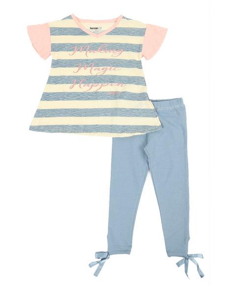 Kensie Girl - Karina Side Tie Leggings & Printed Tee Set (4-6X)