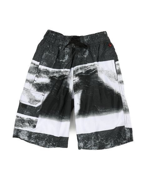 NOTHIN' BUT NET - Printed Microfiber E-Board Shorts (8-18)