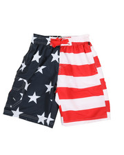 Boys - Printed Microfiber E-Board Shorts (8-18)-2364454