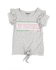 Kensie Girl - Millie Tie Front Ruffle Tee (4-6X)-2362844