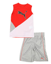 Boys - Poly Performance Sleeveless Tee & Shorts Set (4-7)-2364055