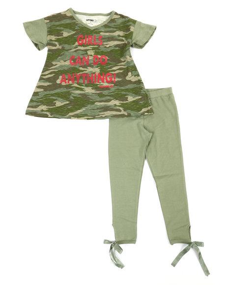 Kensie Girl - Karina Side Tie Leggings & Printed Tee Set (7-16)