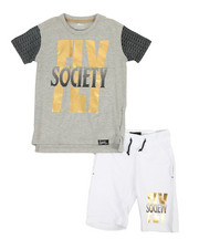 Boys - 2 Pc Tee & Shorts Set (8-20)-2361234