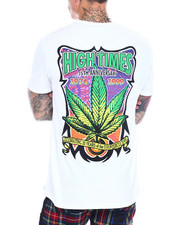 High Times - Embroidered Leaf Logo Tee-2365983