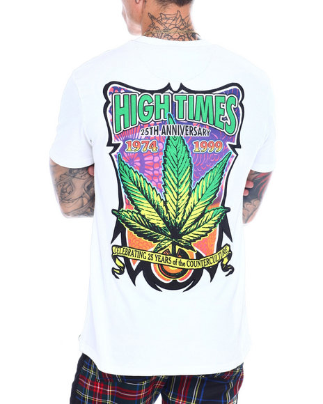 High Times - Embroidered Leaf Logo Tee
